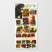 Destroy All Monsters Canvas Print