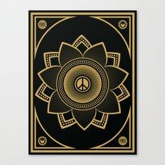 Peace Lotus Canvas Print