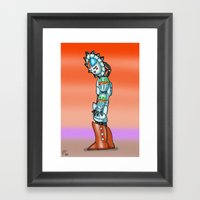 Robot Series - Kachina Sunbot Framed Art Print