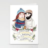 Stationery Cards featuring Warmest Holiday Wishes by Brooke Weeber