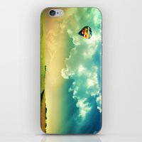 The Colorful Balloon In The Sky - Painting Style iPhone & iPod Skin