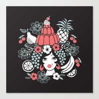 Jelly Miranda - Black Canvas Print
