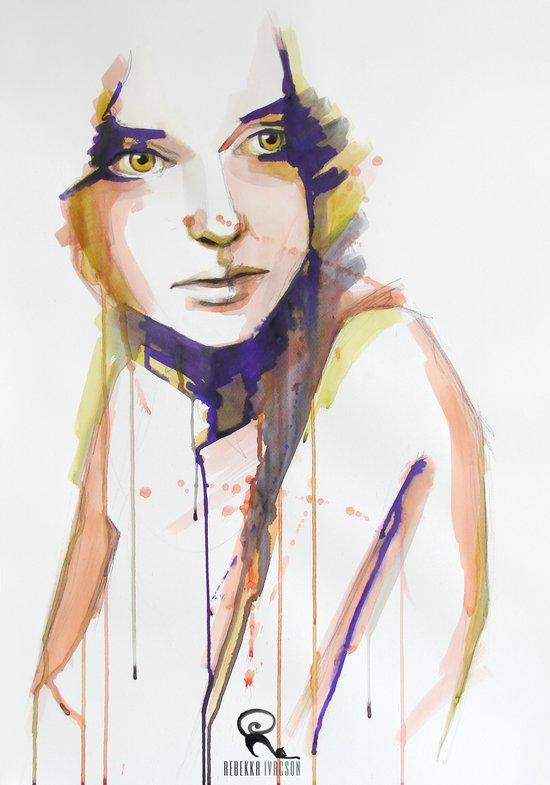 Over HER shoulder Art Print