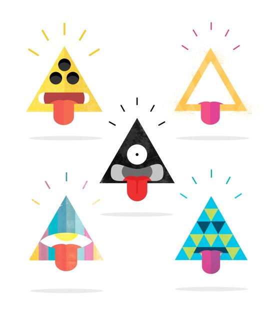 Choose your triangle. Art Print