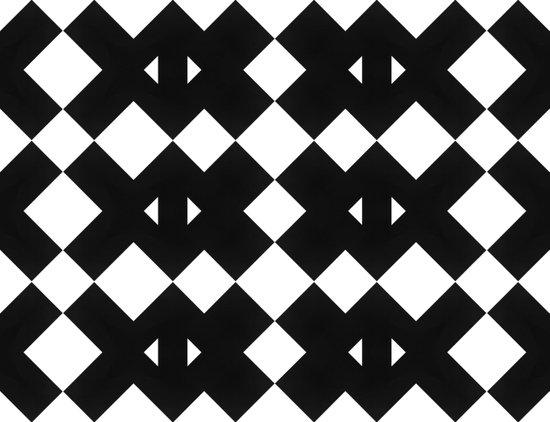 Branting Black & White Pattern Canvas Print