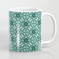 Watercolor Green Tile 3 Mug