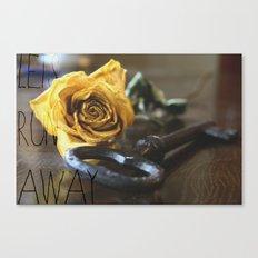 Let's Run Away Canvas Print