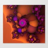 Purple and Orange Fractal 4 Canvas Print