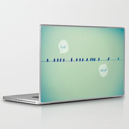 Tweeting Laptop & iPad Skin