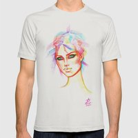Rainbow Girl Mens Fitted Tee Silver SMALL