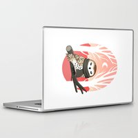 winter Laptop & iPad Skins featuring Winter Owl by Freeminds