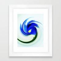 Iris Swirl Framed Art Print