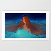 Surfacing Art Print