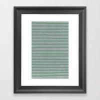 Concrete & Stripes Framed Art Print