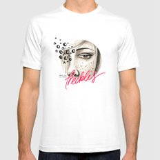 Freckles White Mens Fitted Tee SMALL