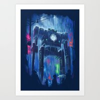 robot Art Prints featuring Impressionist Robot by Dan Burgess