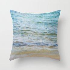 Teal Ocean  Throw Pillow