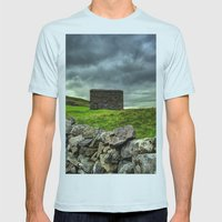 The Pennine Way Mens Fitted Tee Light Blue SMALL