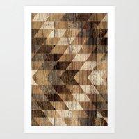 Wood Grain Tribal Geomet… Art Print