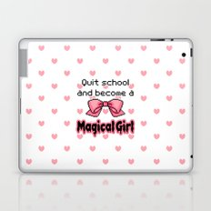 kawaii quit school become a magical girl melty text Laptop & iPad Skin