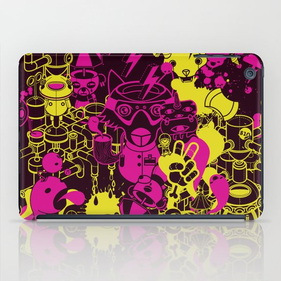 Dream Factory Pink and Yellow iPad Case