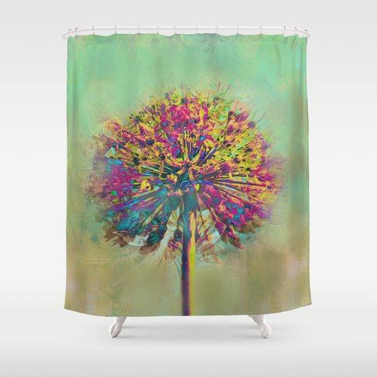 Dandelion Fantasy Shower Curtain by Klara Acel | Society6