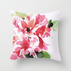 watercolor floral 2 Throw Pillow