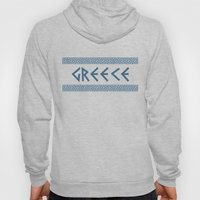 Greece Nation Text Hoody