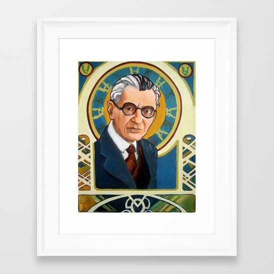 Kurt Gödel Framed Art Print