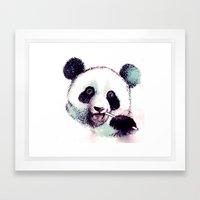 Panda Eating Framed Art Print