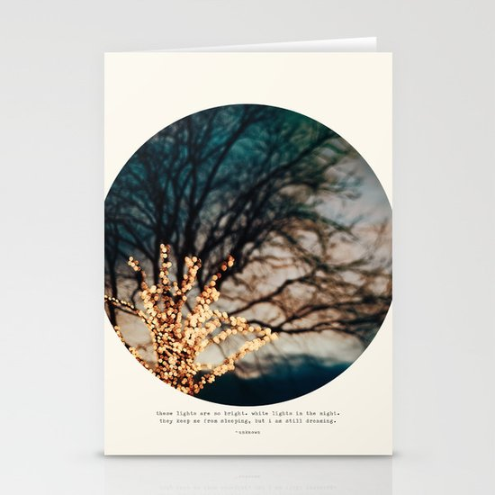 White Lights Stationery Card