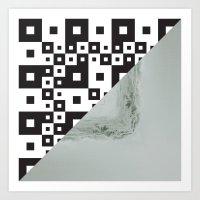 waves/grid #7 Art Print