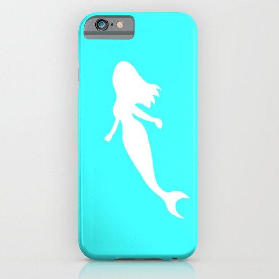 Mermaid teal iPhone & iPod Case