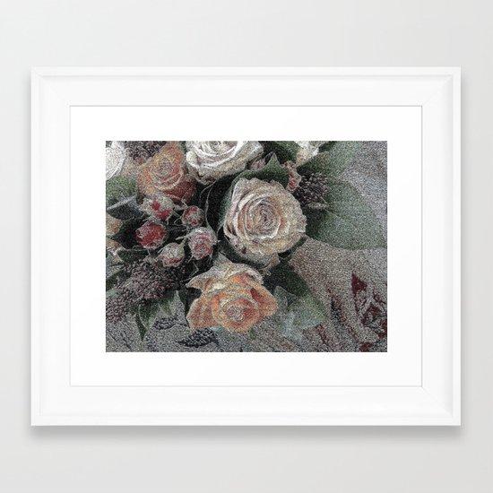 First Frost- Frozen Flowers  Framed Art Print