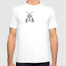 Moth Mens Fitted Tee SMALL White