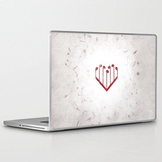 Music Heart gray Laptop & iPad Skin