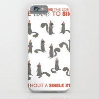 iPhone & iPod Case featuring Squirrel Choir Holiday! by Kinnon Elliott Illustration & Design