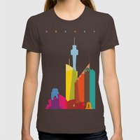 Shapes of Sydney. Accurate to scale Womens Fitted Tee Brown SMALL