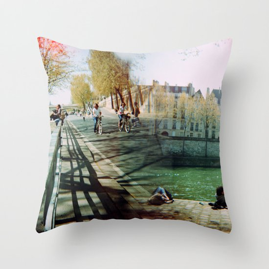 Paris in the Spring Time 2 Throw Pillow