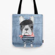 French Bulldog. (panoram… Tote Bag