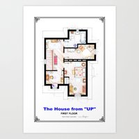 The House From UP - Firs… Art Print