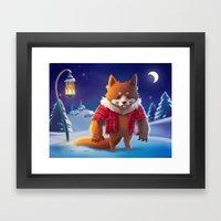 Little Werewolf Framed Art Print