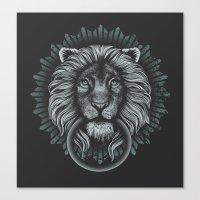 Stone Lion Canvas Print