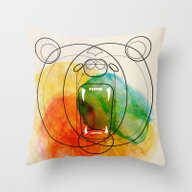 Throw Pillow featuring Bear by Alvaro Tapia Hidalgo