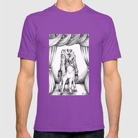 Haunted Clothing- The Coat of a Thousand Young Mens Fitted Tee Ultraviolet SMALL