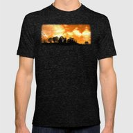 Mystical Hill Mens Fitted Tee Tri-Black SMALL