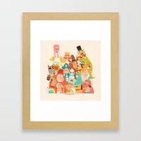 Storybook Gang Framed Art Print
