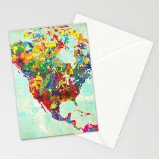 North America Splattered Stationery Cards