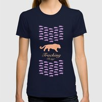 Tracking - Oh my! Womens Fitted Tee Navy SMALL