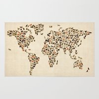 Cats Map Of The World Ma… Rug